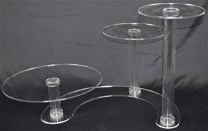 Buy 3 Tier Cascade Cake Stand 5mm Acrylic Wedding Display