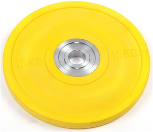 15KG PRO Olympic Rubber Bumper Weight Pl