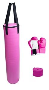 70lb Pink Heavy Bag Kit Punching Boxing