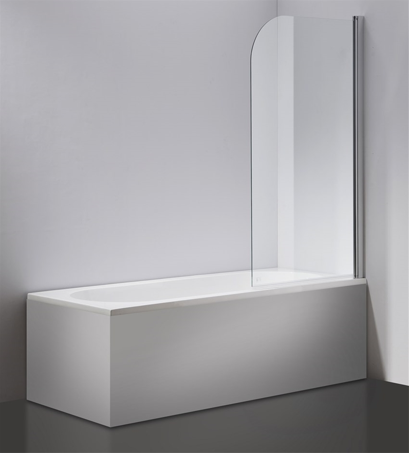 Buy 180° Pivot 6mm Glass Over Bath Shower Screen Door Panel By Della ...