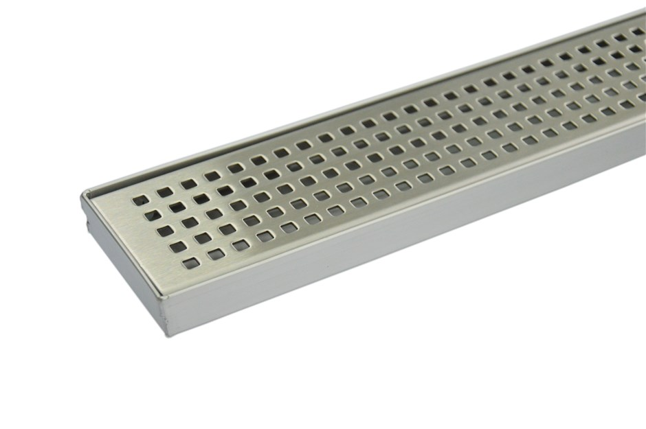 900mm Bathroom Shower S/S Grate Drain w/Centre outlet Floor Waste Square