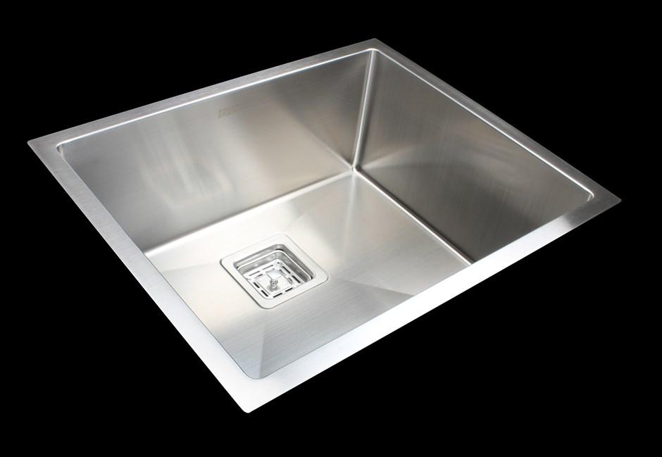 550x455mm Handmade Stainless Steel Undermount / Topmount Kitchen Sink
