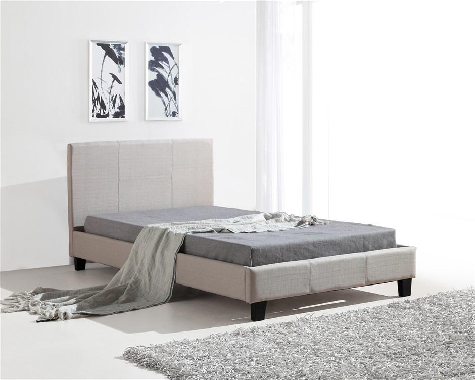 King Single Linen Fabric Bed Frame Beigeking single bed frames sydney   Graysonline. King Single Bedroom Suite Sydney. Home Design Ideas