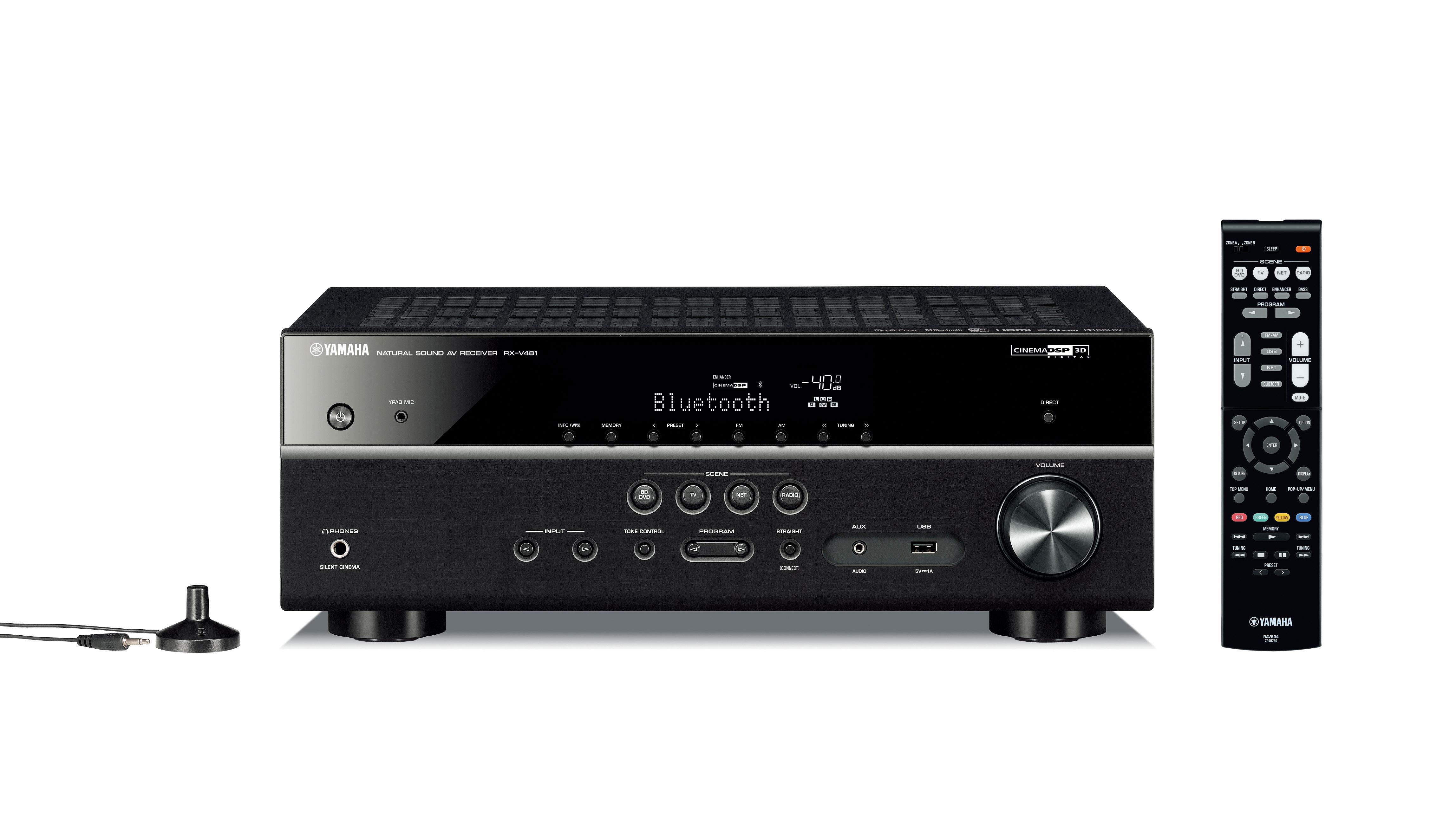 Yamaha RX-V481 Network AV Receiverw/ Bluetooth, Wi-F & MusicCast (Black)