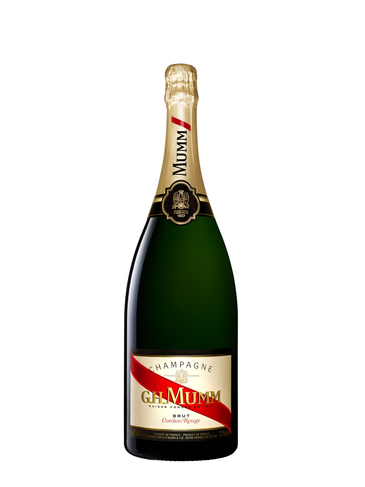 G.H Mumm 'Cordon Rouge' Champagne Magnum NV (3 x 1500mL), France.