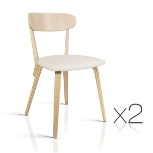 Artiss Set of 2 Wooden Dining Chairs - B