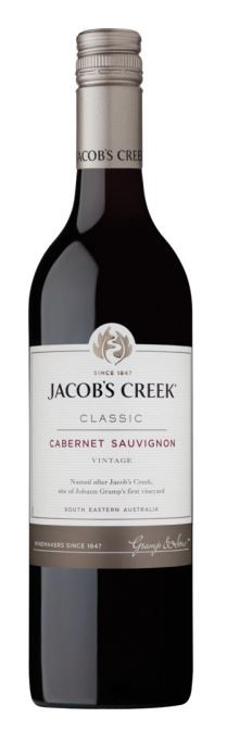 Jacob's Creek `Classic` Cabernet Sauvignon 2018 (12 x 750mL), SE AUS.