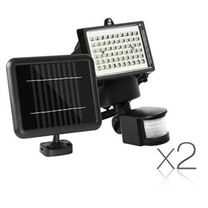 Set of 2 60 LED Solar Powered Senor Ligh