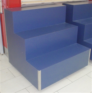 3 Tier Blue Laminate Display Steps Bid Price Per Unit 51850 21 Auction 0019 7002394