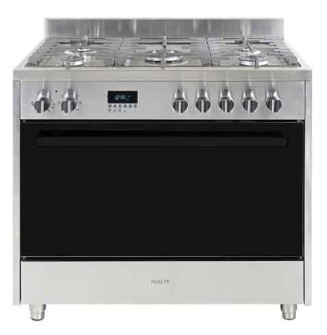 InAlto IF9EG 90cm Dual Fuel Freestanding Cooker with Oven (Stainless Steel)