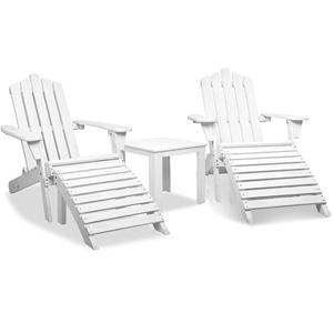 Gardeon 5 Piece Outdoor Beach Set - Whit