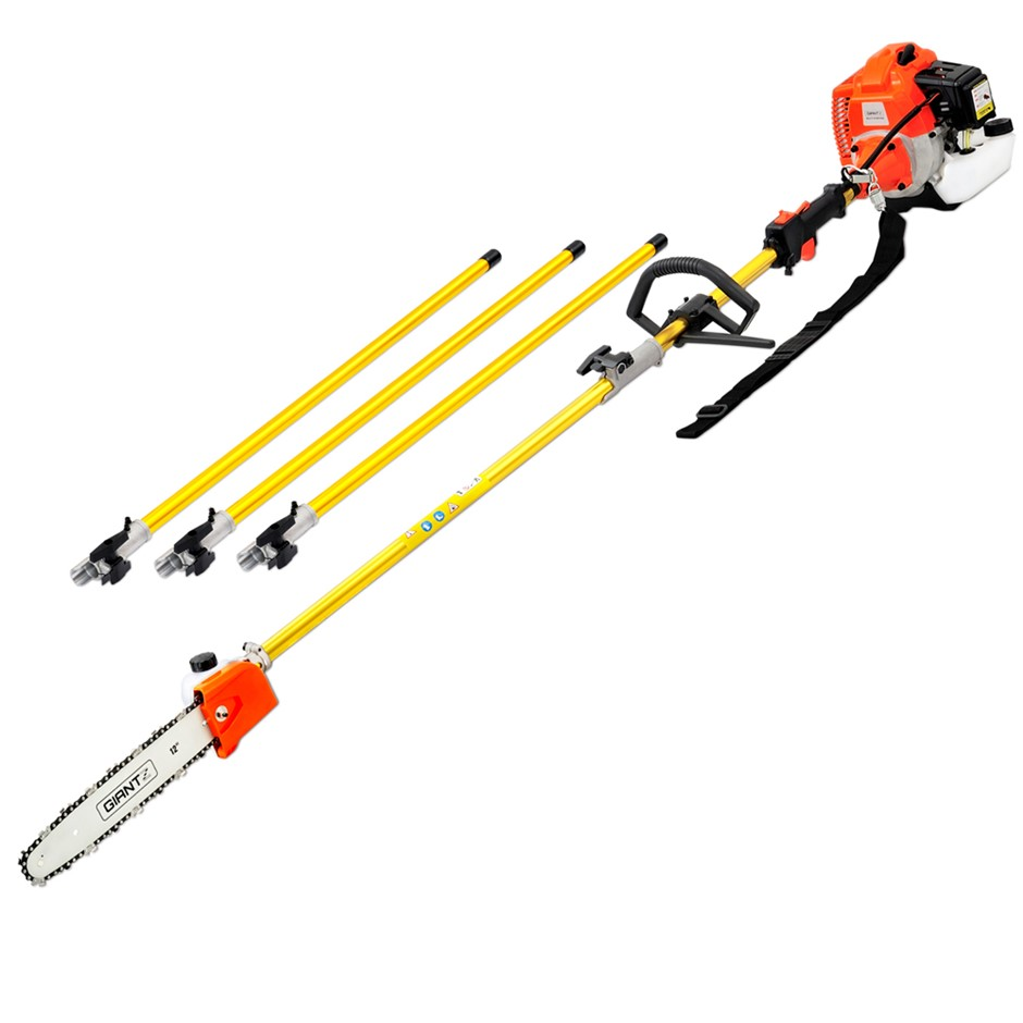 Giantz 62CC Pole Chainsaw Hedge Trimmer Pruner Extension