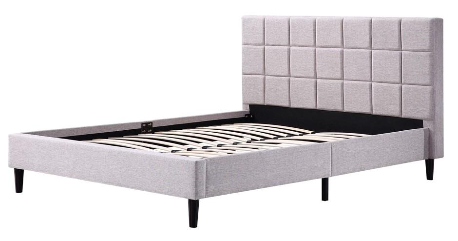 Queen Linen Fabric Deluxe Bed Frame Beige