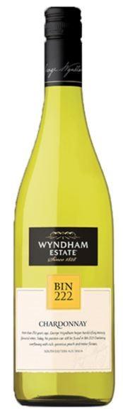 George Wyndham `Bin 222` Chardonnay 2018 (6 x 750mL), SE AUS.
