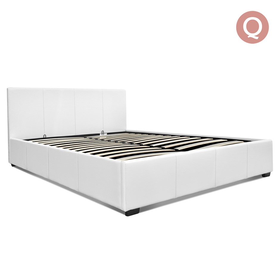 straight product frame leather queen white kroma leatherette xcella bed ws