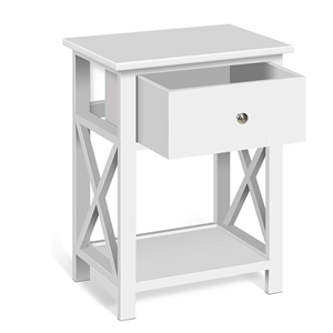 Artiss Wooden Bedside Table with Cabient