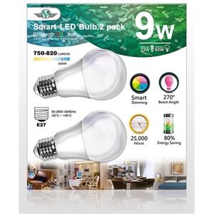 MV Smart Bulb 9W E27 Twin Pack
