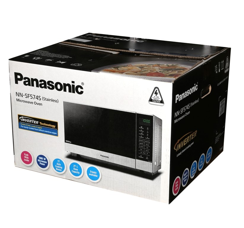 PANASONIC Stainless Steel 1000W Microwave Oven, Model NN-SF574S. (SN:CC1468