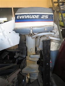 Evinrude 25 Hp >> Boat Motor Evinrude 25hp Two Stroke Outboard Auction 0089