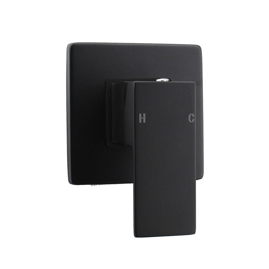 Square Black Wall Built-in Shower/Spout Mixer Tap Watermark Certificate