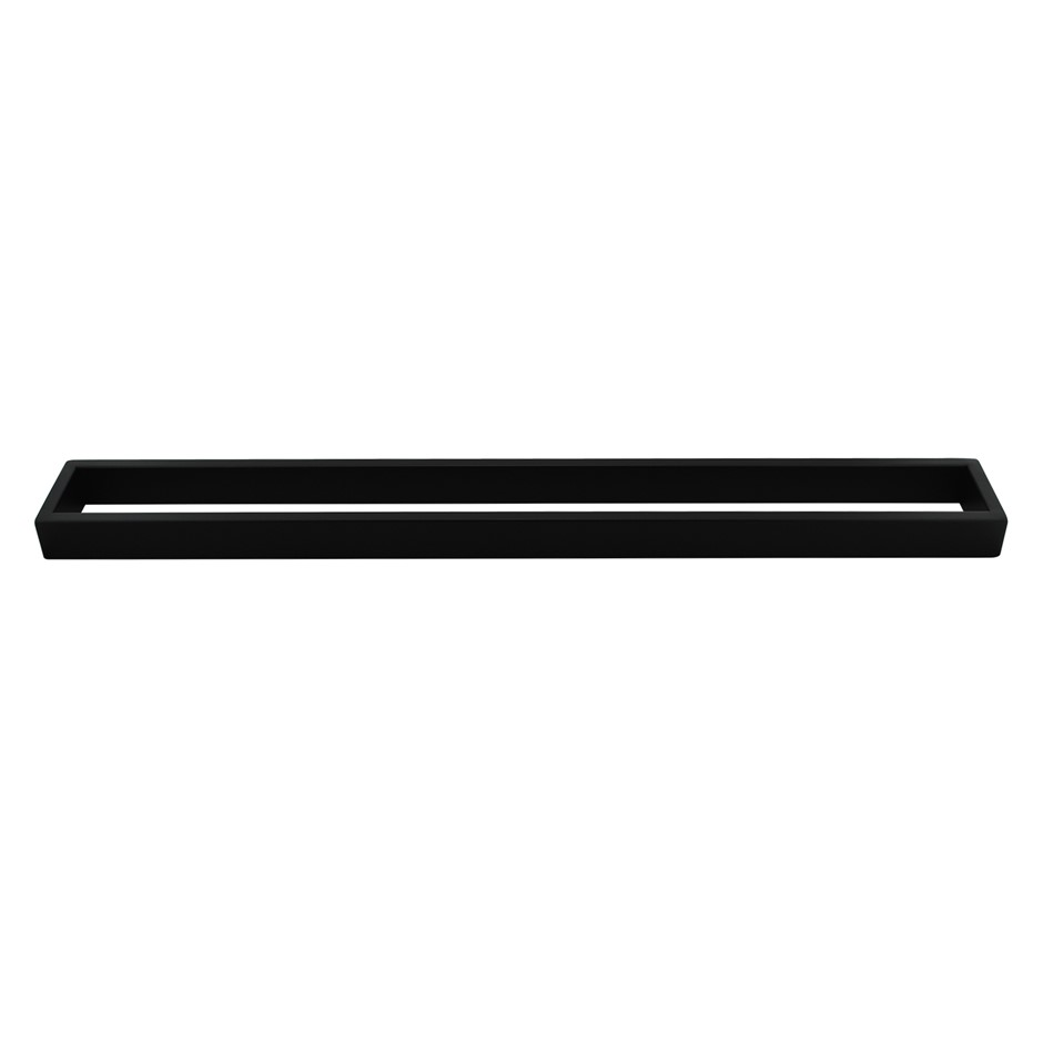 Square Matt Black 304 Stainless Steel Single Towel Rail Rack Bar 600mm