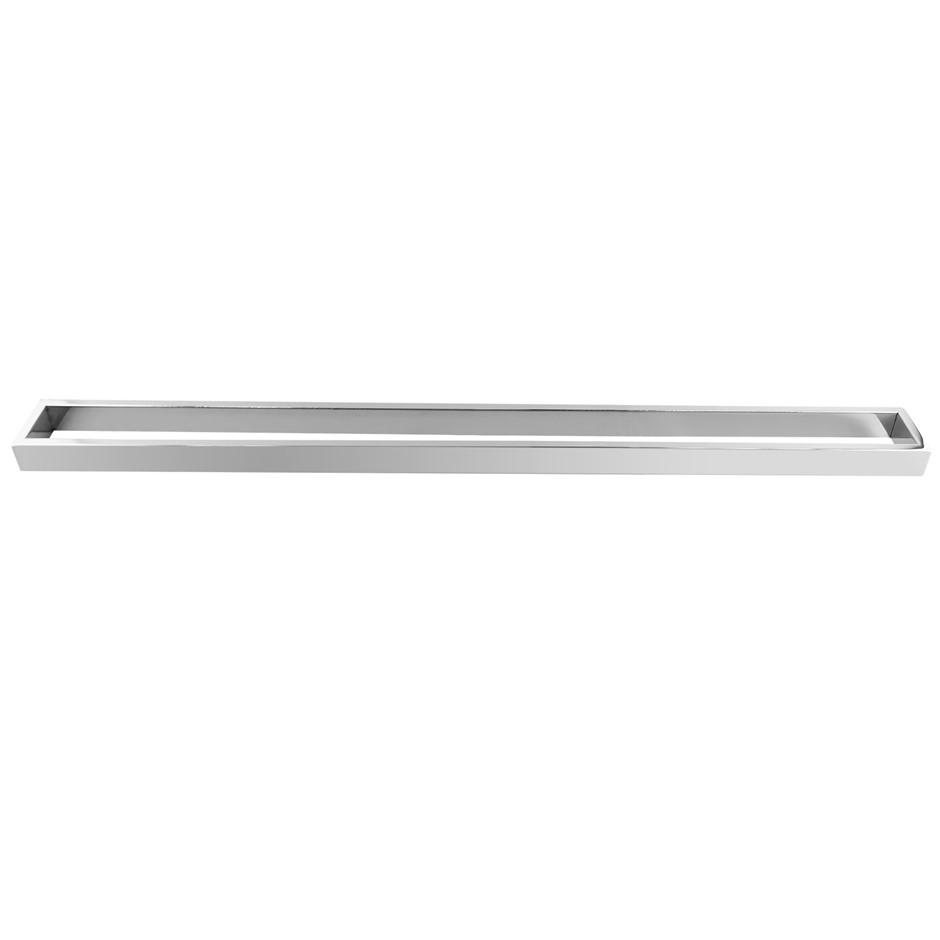 Square Chrome 304 Stainless Steel Single Towel Rail Rack Bar 800mm