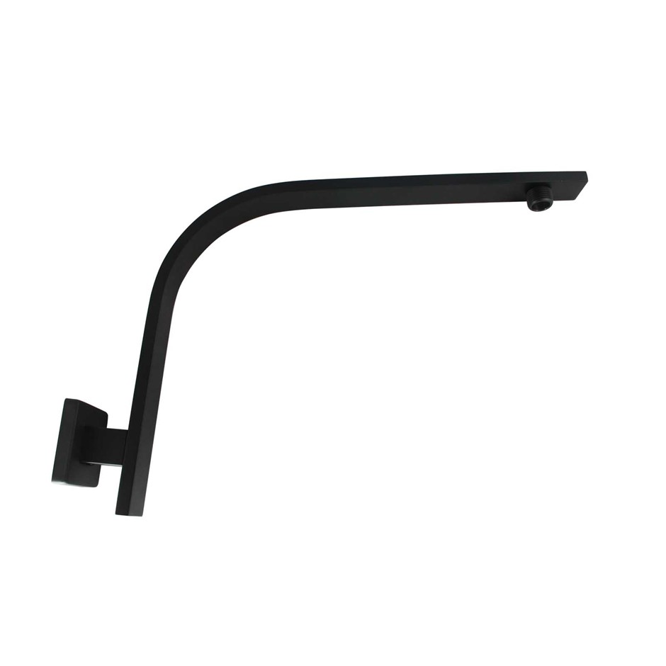Square Black Wall Mounted Shower Arm(304 Stainless Steel)