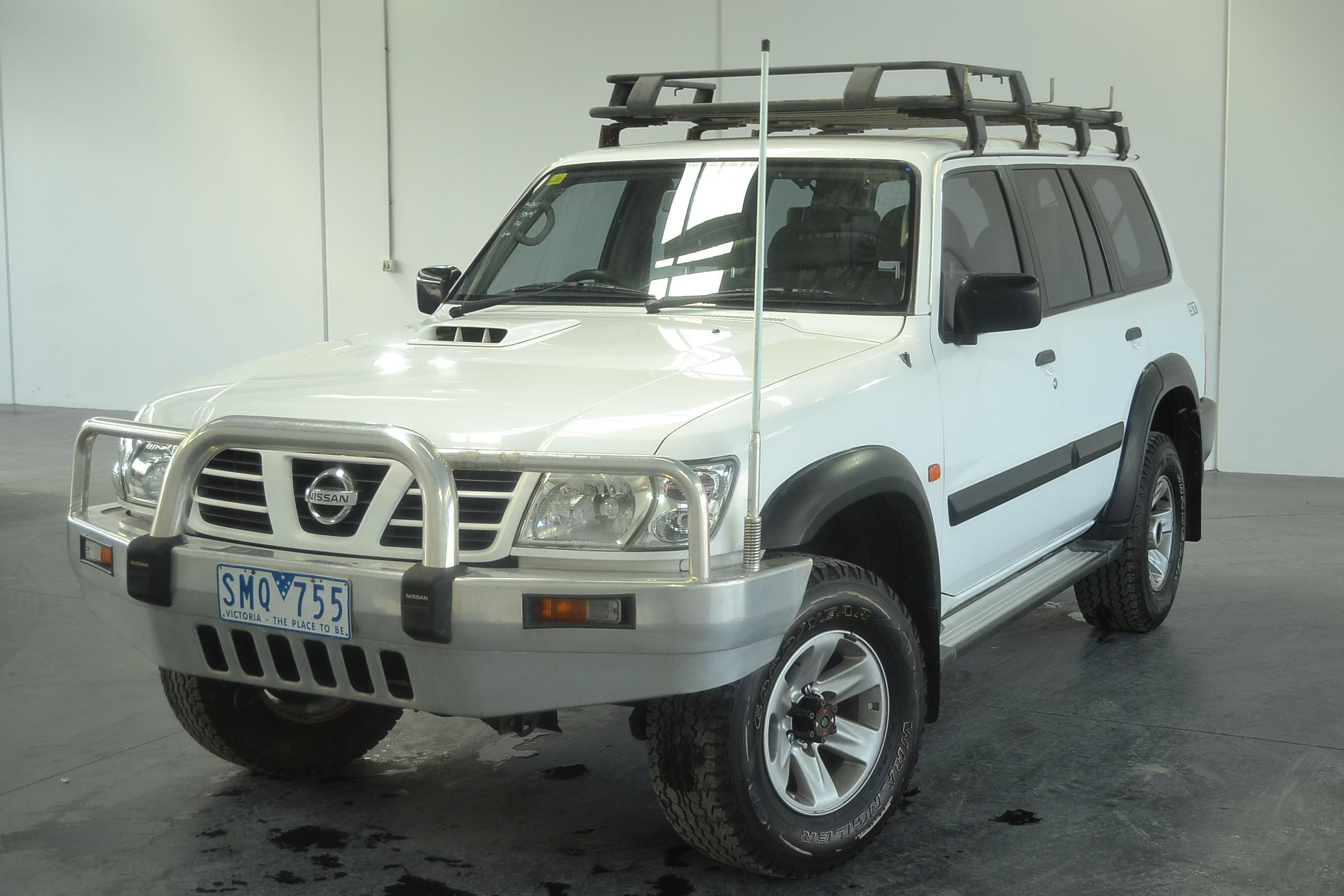 2003 nissan patrol st 3 0 gu ii turbo diesel manual 5 speed 7 seats wagon