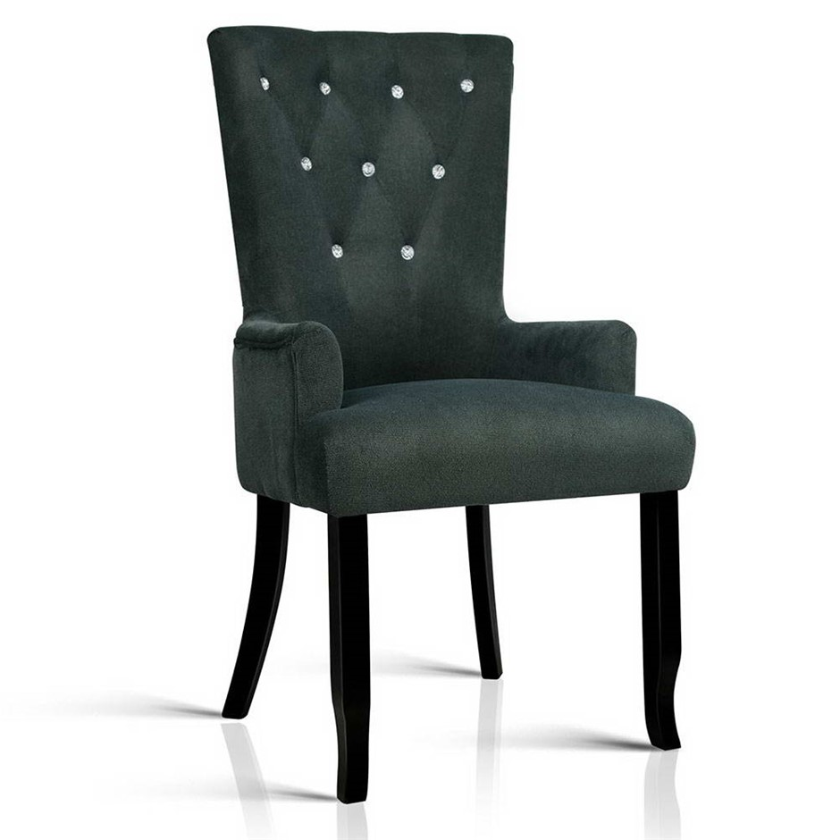 Artiss French Provincial Dining Chair Grey