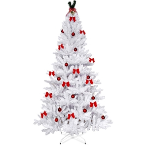 White Christmas Tree.1 8m Christmas Tree With Decorations White