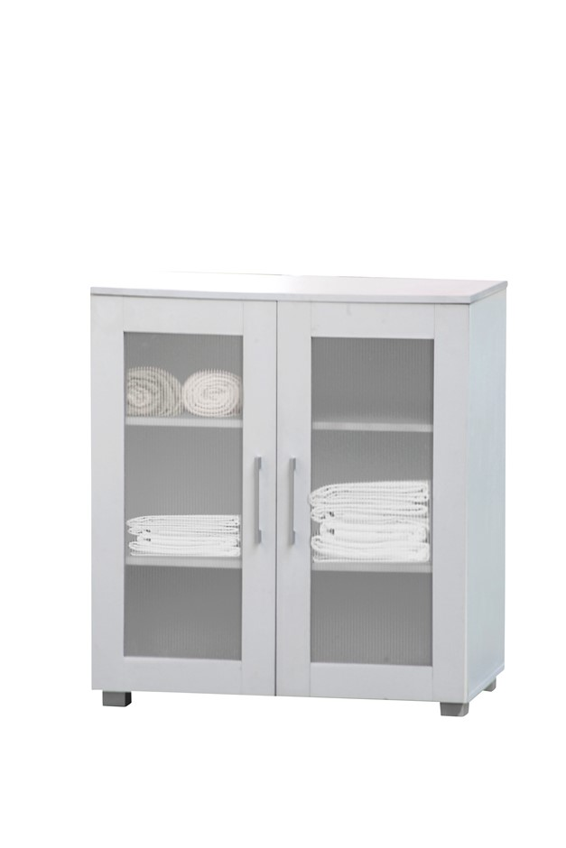 Aspen Double Door Floor Unit - White