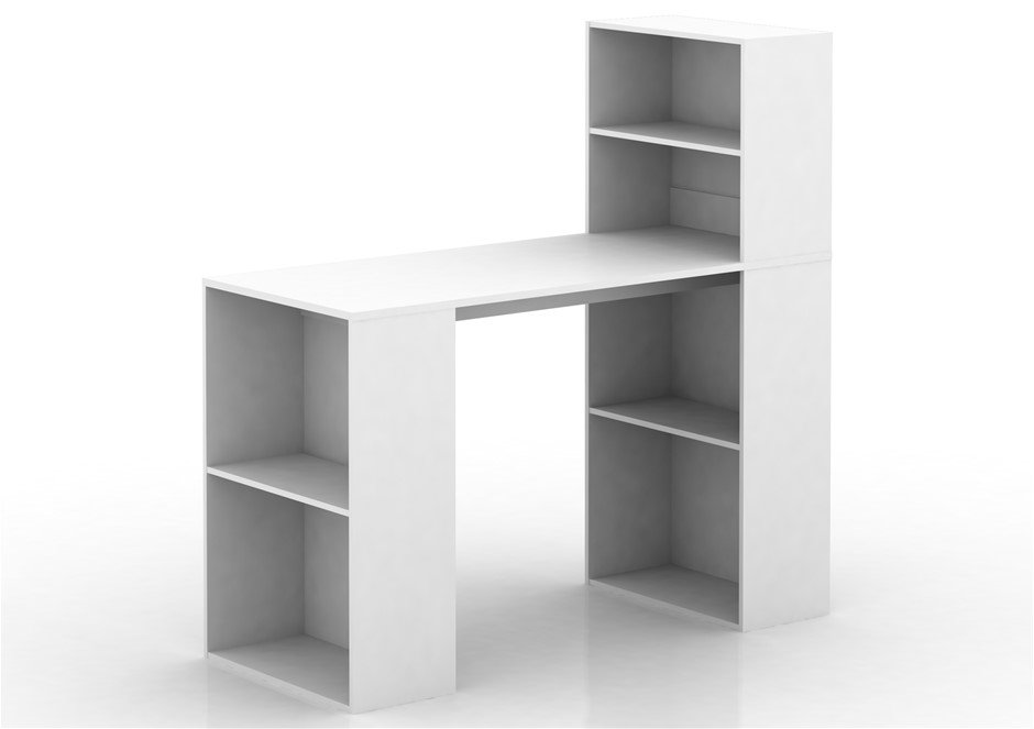 Baxter Multi Storage Office Desk - White