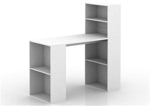 Baxter Multi Storage Office Desk - White