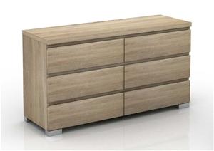 Elara 6 Drawer Chest - Light Sonoma Oak
