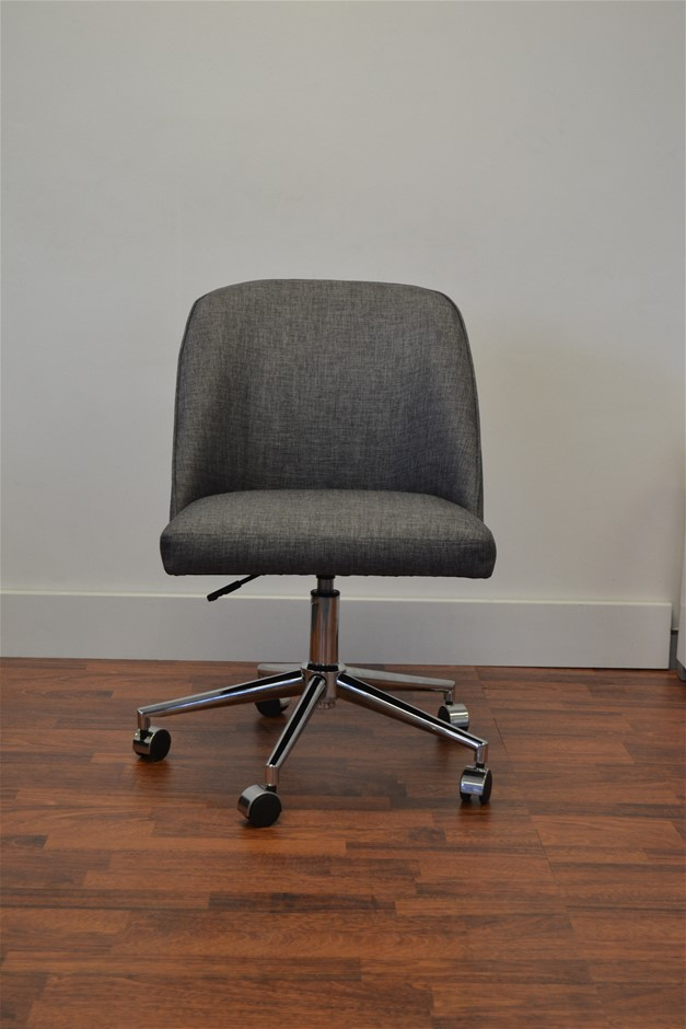 Archie Fabric Student Office Chair - Charcoal