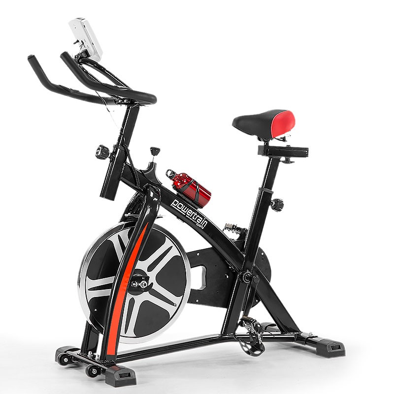 Powertrain Home Gym Flywheel Exercise Spin Bike - Black