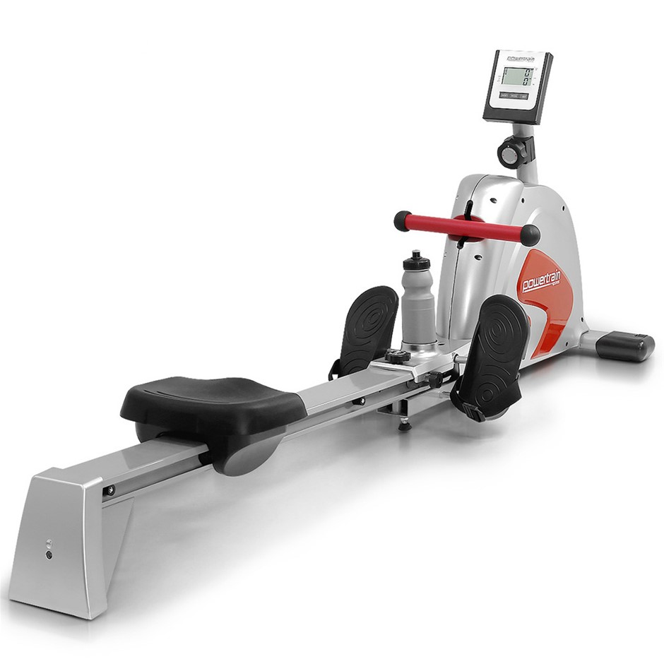 Powertrain Magnetic flywheel rowing machine - Silver
