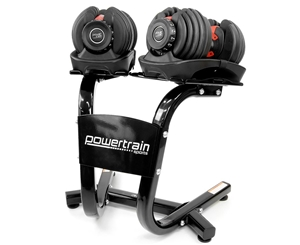 Powertrain Adjustable Dumbbell Set with