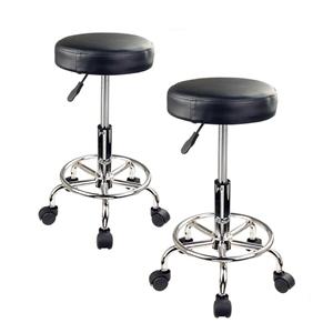 Round Salon Stool - BLACK X2