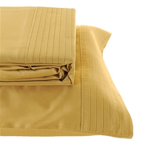 Deca Home Egyptian Cotton 250tc Ed Sheet Set Queen Bed Mustard