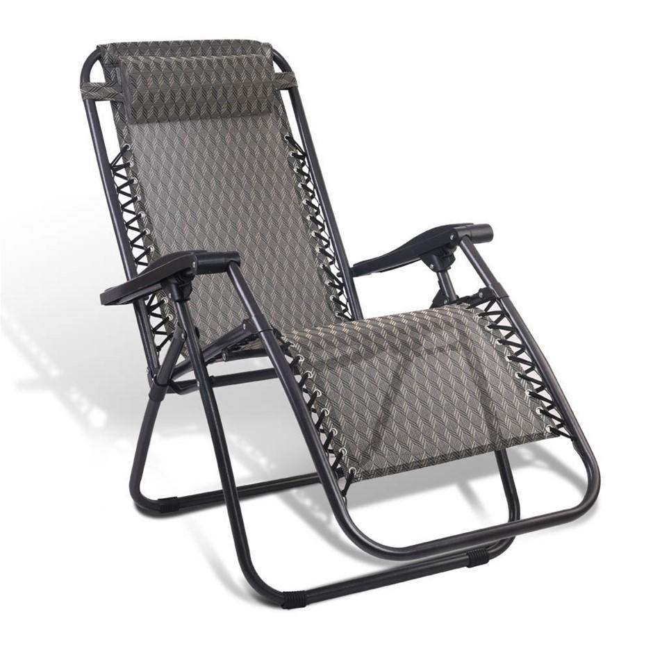 Gardeon Outdoor Portable Recliner - Grey