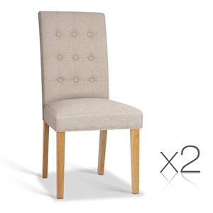 Artiss Set of 2 Fabric Dining Chair - Be