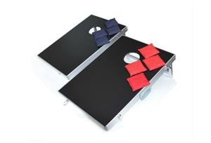 Surprising Bean Bag Toss Cornhole Game Set Aluminium Frame Portable Design Evergreenethics Interior Chair Design Evergreenethicsorg