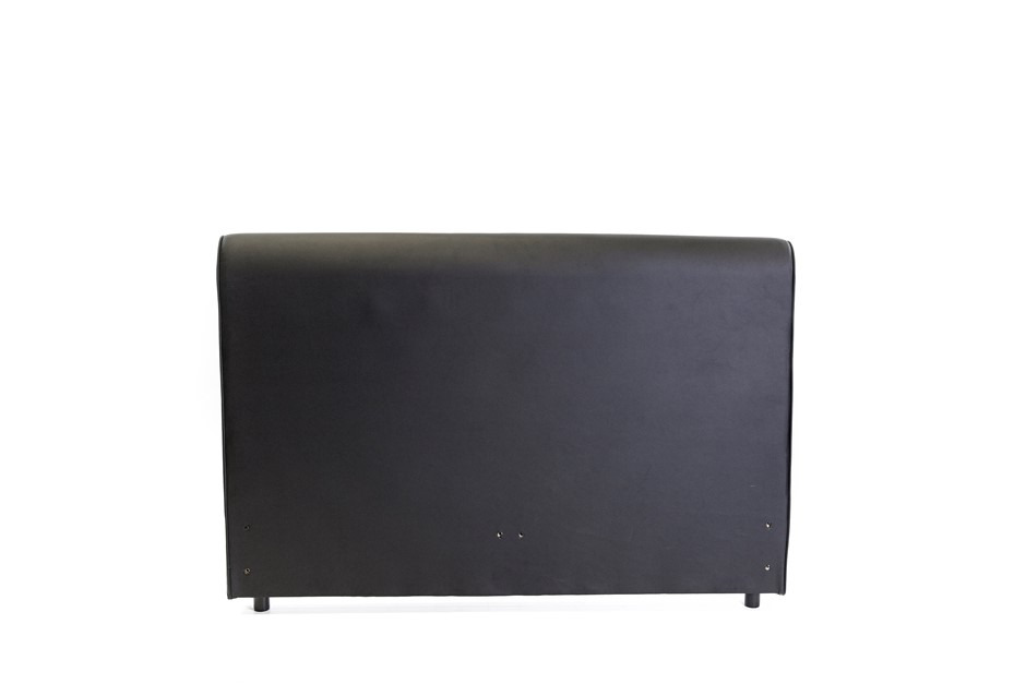 Aria Traditional Scroll Faux Leather Queen Size Headboard - Black