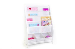 Kids Book Display with 3 Storage Bins