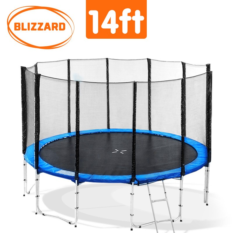 Blizzard 14 ft trampoline with net - Blue