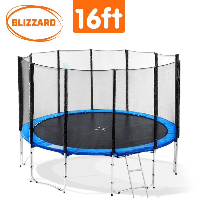 Blizzard 16 ft trampoline with net - Blue
