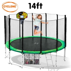 Cyclone 14 ft Springless trampoline with