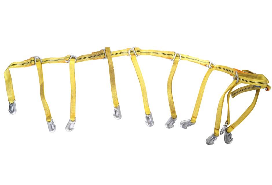 2 x Heavy Duty Multi- Purpose Webbing Hangers, Length 2.4mtr Buyers Note -