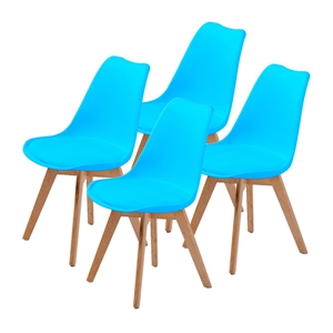 Replica Eames PU Padded Dining Chair - B
